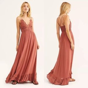 NWT Free People Adella Maxi Slip Dress Copper